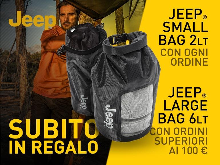Subito in regalo la Jeep Bag, scopri come!  Jeepou16
