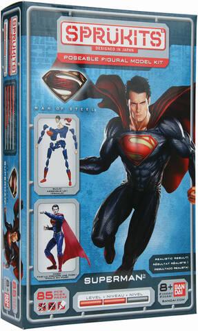 Sprukits Level 2 Superman Man of Steel Poseable Figure Model Kit