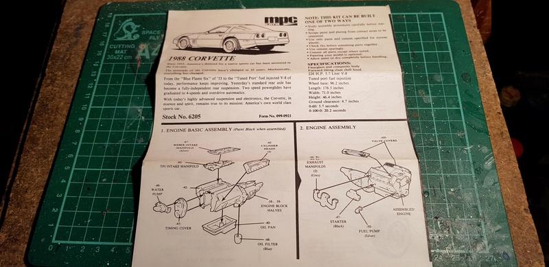 """Chervolet Corvette C4 """"Liberty"""" MPC/ERTL 1:25 & Monogram 1:8 20171211"""