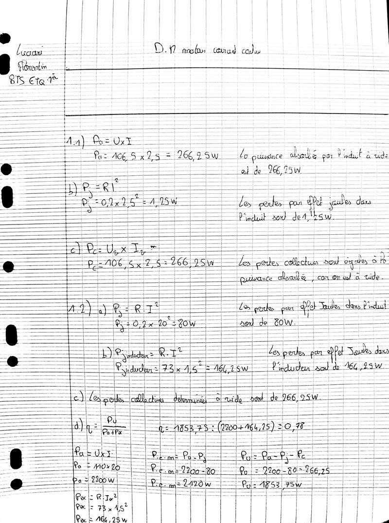 Devoir physique - Moteur courant continu  20171212