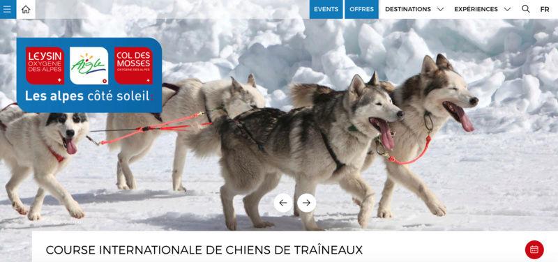 Course internationale de traîneaux à Chiens - Les Mosses - Suisse Captur27