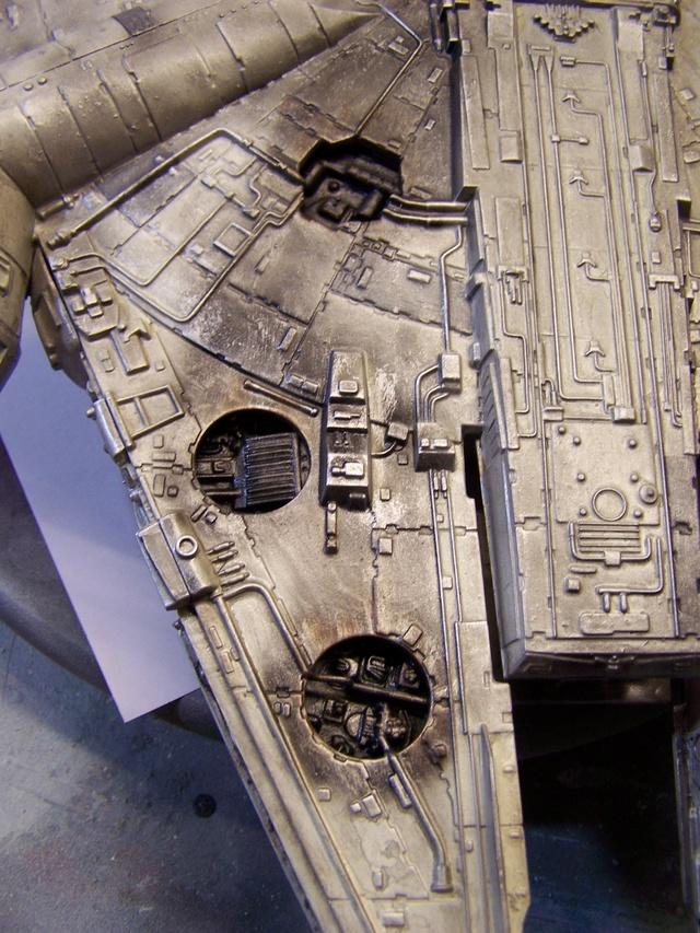 Meine Schrottmühle...Restauration eines Modells des Milenium Falcon vom AMT-Ertl 100_3627