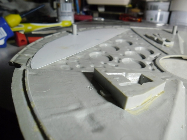 Meine Schrottmühle...Restauration eines Modells des Milenium Falcon vom AMT-Ertl 10c10