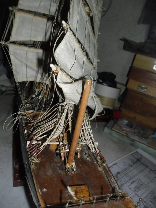 """Restaurierung eines Modells der """"Pamir"""" 1310"""