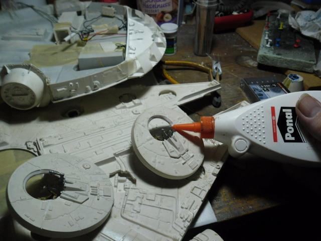 Meine Schrottmühle...Restauration eines Modells des Milenium Falcon vom AMT-Ertl 1413