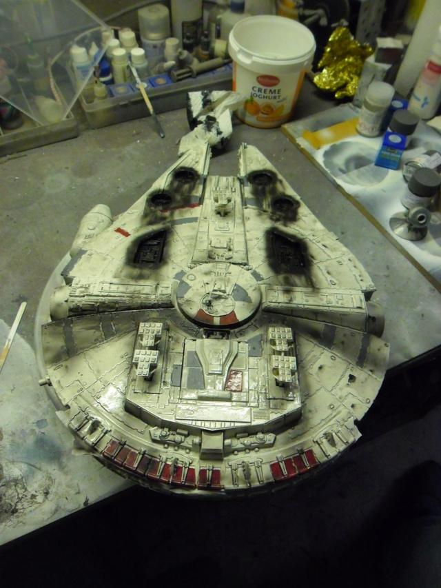 Meine Schrottmühle...Restauration eines Modells des Milenium Falcon vom AMT-Ertl 19a10