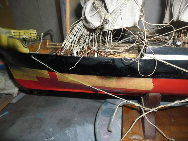 """Restaurierung eines Modells der """"Pamir"""" 610"""