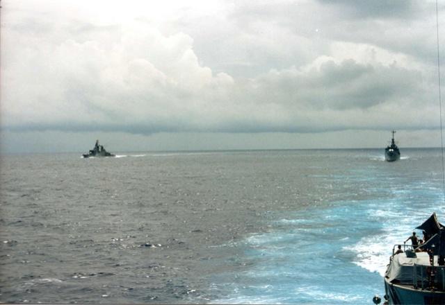 Zum Raketenschießen zu den Bahamas. Zerstörer Lütjens. A17