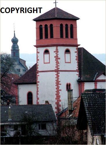 Die evangelische Bergkirche in Osthofen. Ev_54010
