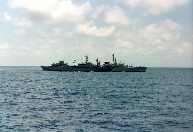 Zum Raketenschießen zu den Bahamas. Zerstörer Lütjens. Versor11