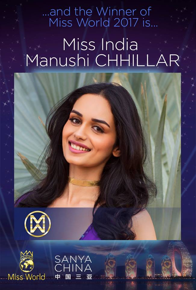 The Official Thread of Miss World 2017 ® Manushi Chhillar - India 23561610