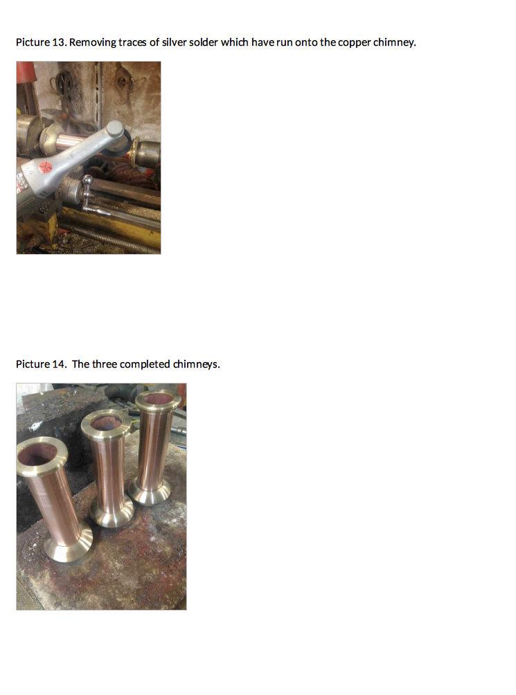 Fabrication chaudière Pendlesteam : pas à pas Captur35