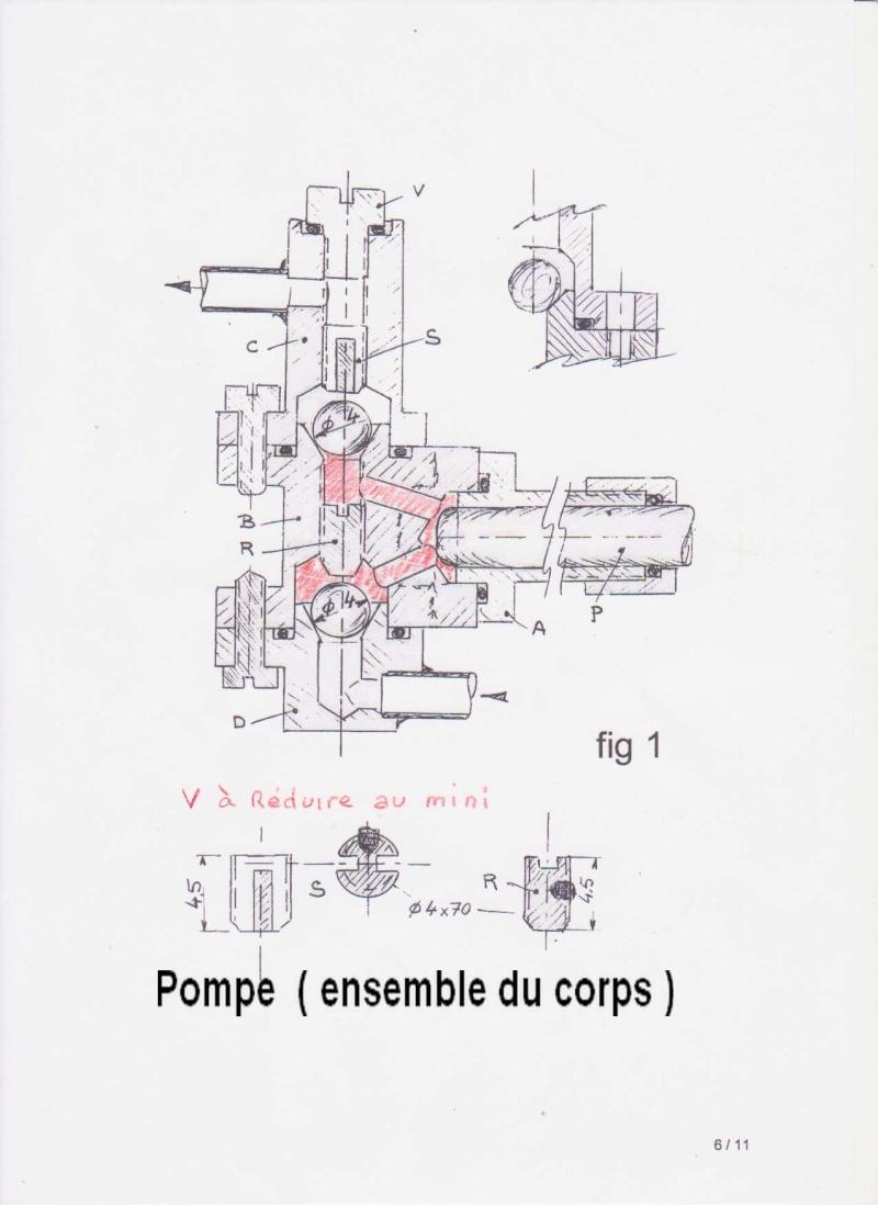 Pompe à débit variable. Corps110