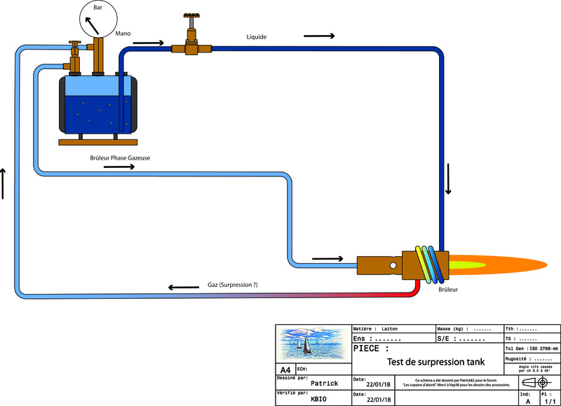 Pressurisation du tank à gaz. Instal17