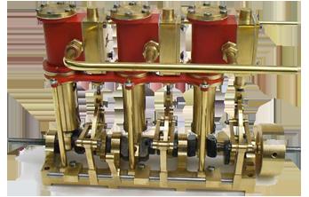 Moteurs trois cylindres verticaux. Stacks10