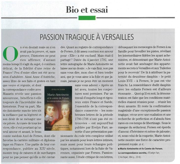 farr - Marie-Antoinette et le comte de Fersen, la correspondance secrète, d'Evelyn Farr - Page 4 Captu179