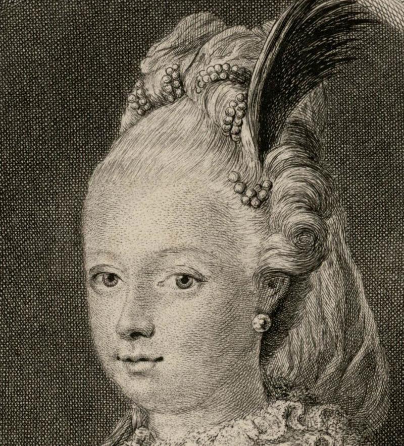 Portraits de Marie-Antoinette au clavecin, par Franz Xaver Wagenschön Captu203