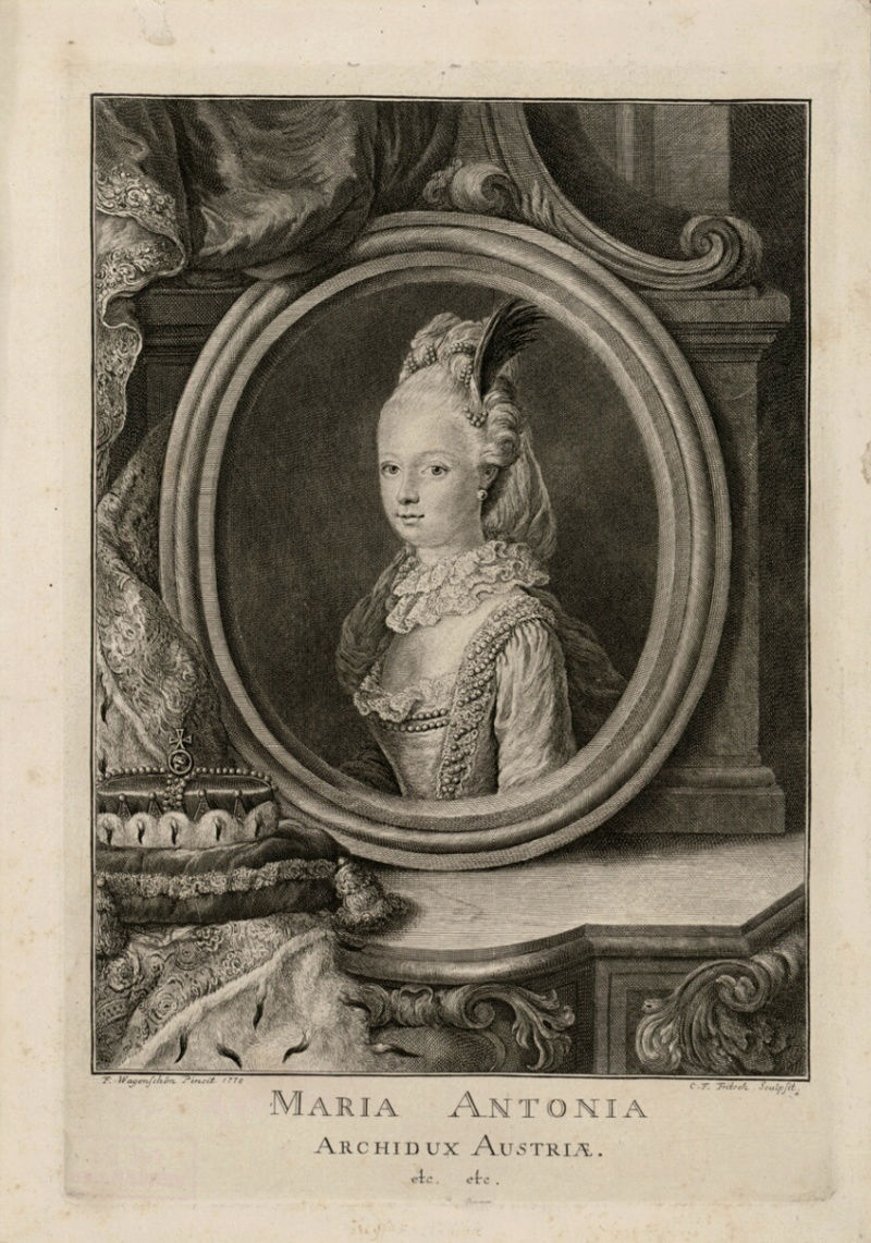 Portraits de Marie-Antoinette au clavecin, par Franz Xaver Wagenschön Captu205