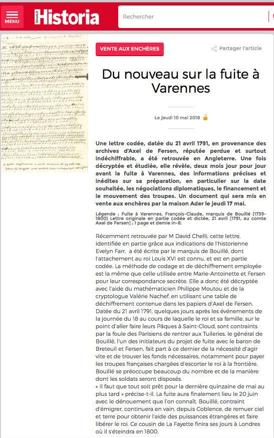 Une lettre inédite du marquis de Bouillé à Fersen du 21 avr. 1791 sur l'évasion de la famille royale - Page 2 Captu294