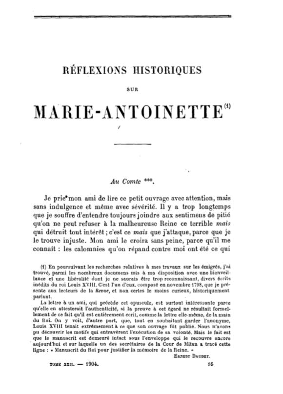 Mémoires de Louis XVIII sur Marie-Antoinette Captur28