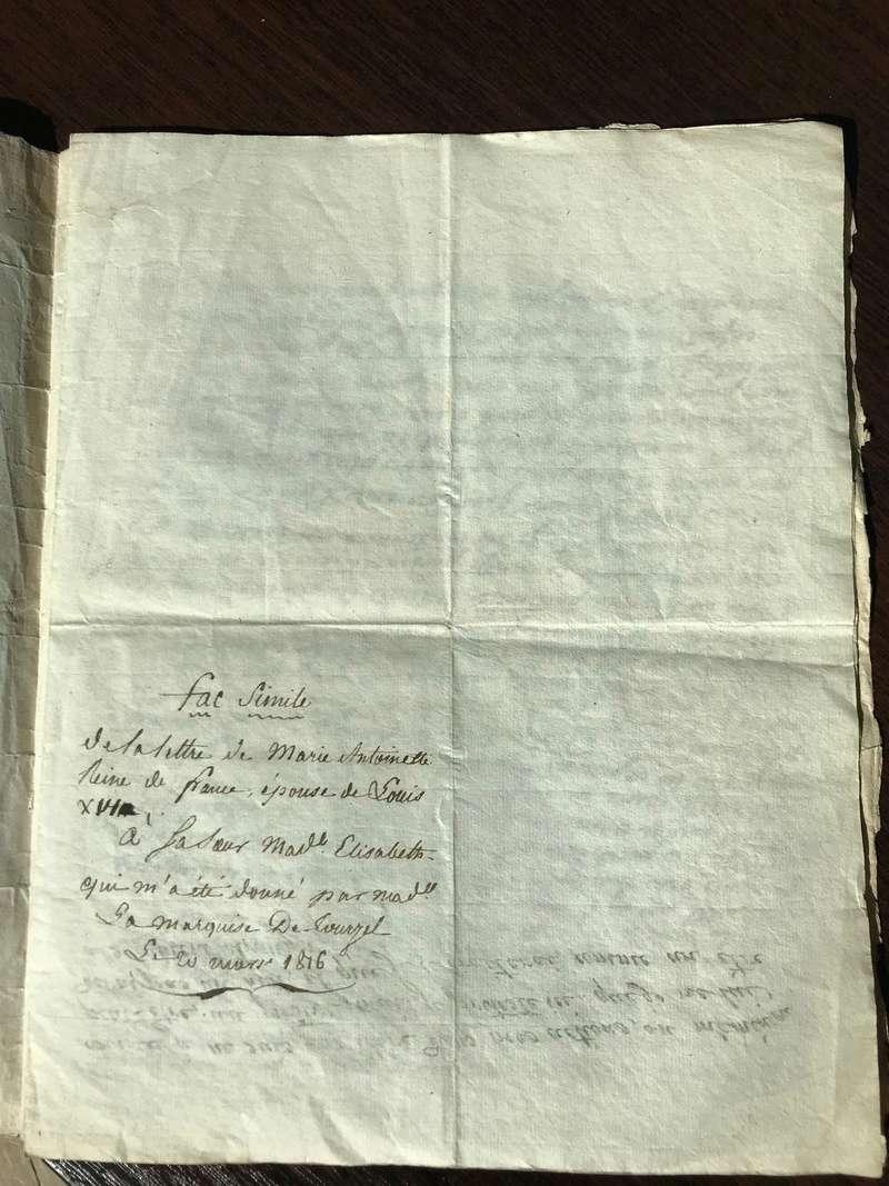 Testament / Lettre de Marie-Antoinette à Madame Elisabeth, le 16 octobre 1793 - Page 2 Img_4424
