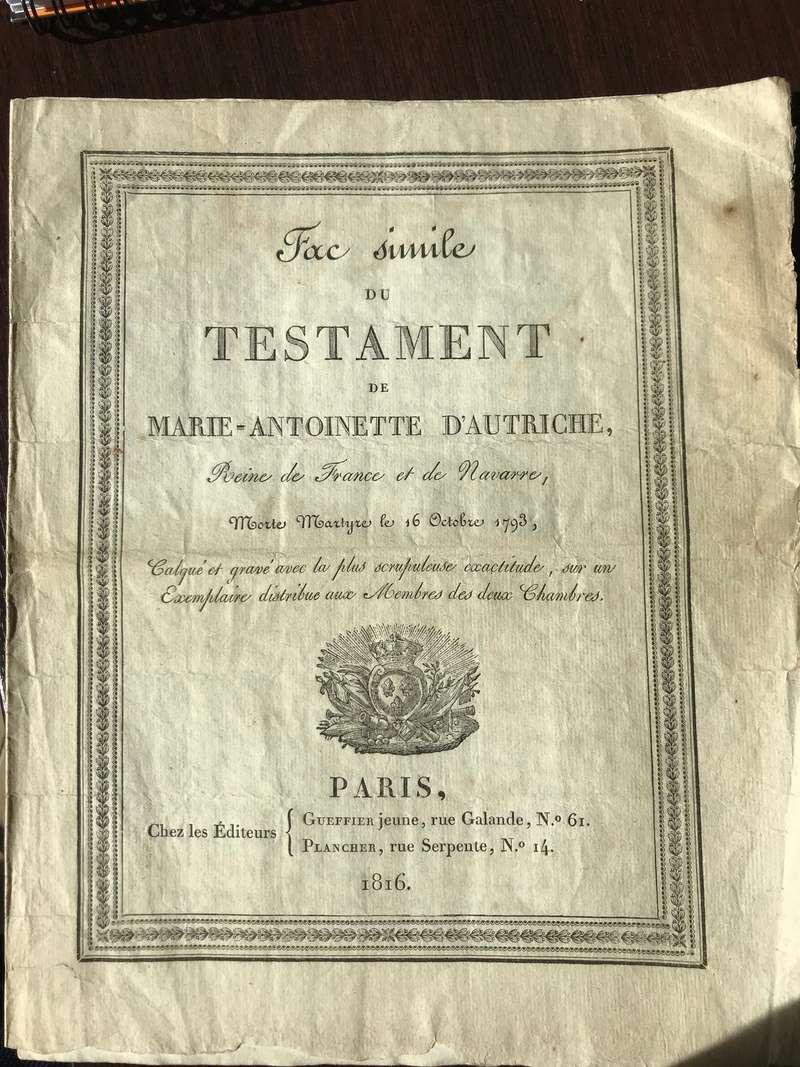Testament / Lettre de Marie-Antoinette à Madame Elisabeth, le 16 octobre 1793 - Page 2 Img_4425