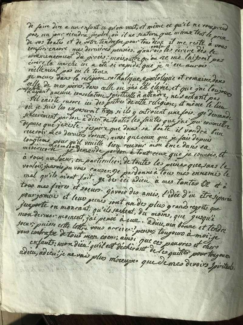 Testament / Lettre de Marie-Antoinette à Madame Elisabeth, le 16 octobre 1793 - Page 2 Img_4427