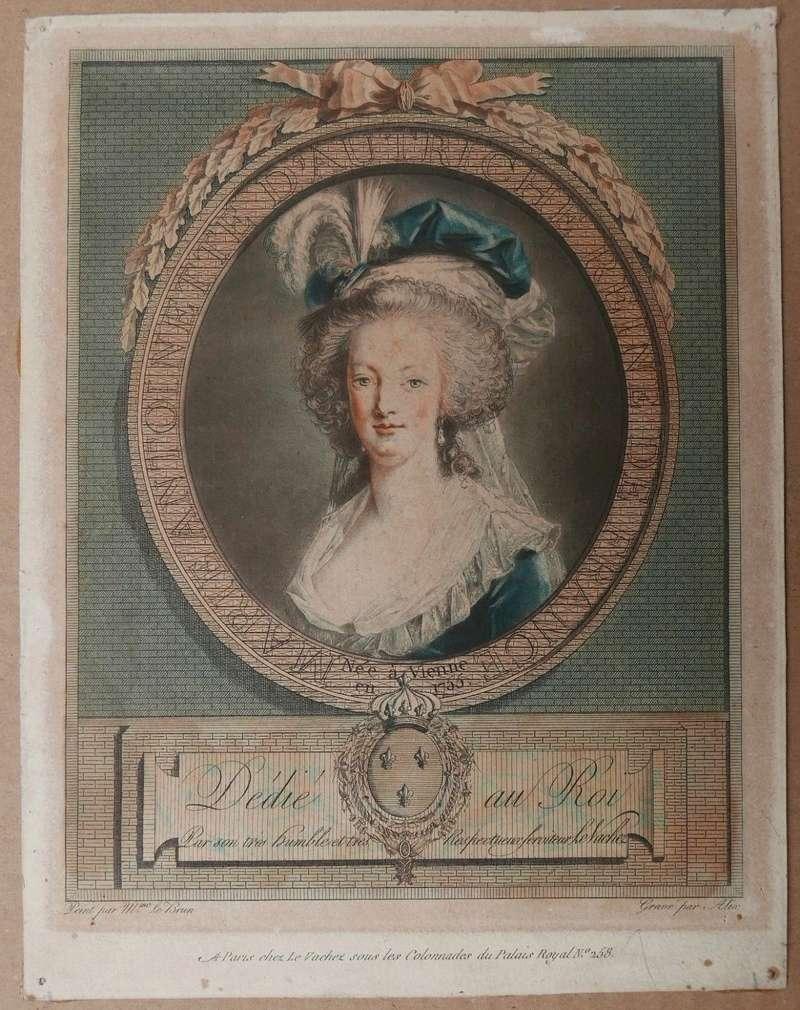 Portraits de Marie-Antoinette au livre, en robe bleue, par Vigée Le Brun (1785 - 1788 ?) - Page 2 S-l16018