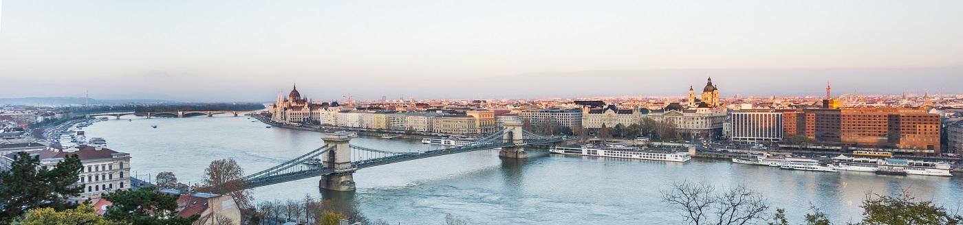 Coucher de soleil sur Budapest Dsc02811