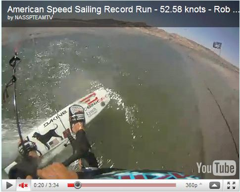 "Kitespeed, la boîte de Rob à la fin de son run ""Record du monde"" Captur12"