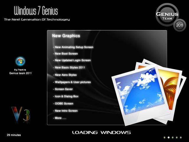 """ويندوز اكس بى الرهيب """" Windows XP 7 Genius Edition 3 """" الويندوز الاخف والاجمل والاقوى. بحجم 699 ميجا . تحميل مباشر وعلى سيرفرات متعددة 25774910"""