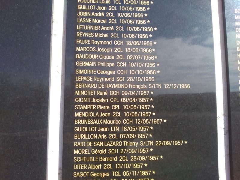 MÉMORIAL DU 1er R. C. P. à Pamiers (Quartier capitaine Beaumont.) - Page 5 Img_2011