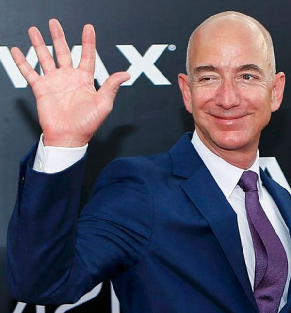 Jeff Bezos Hand Print Currently Richest Man In The World