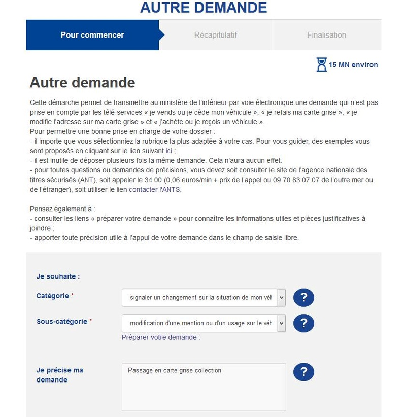 Fiche: Carte grise collection Screen12