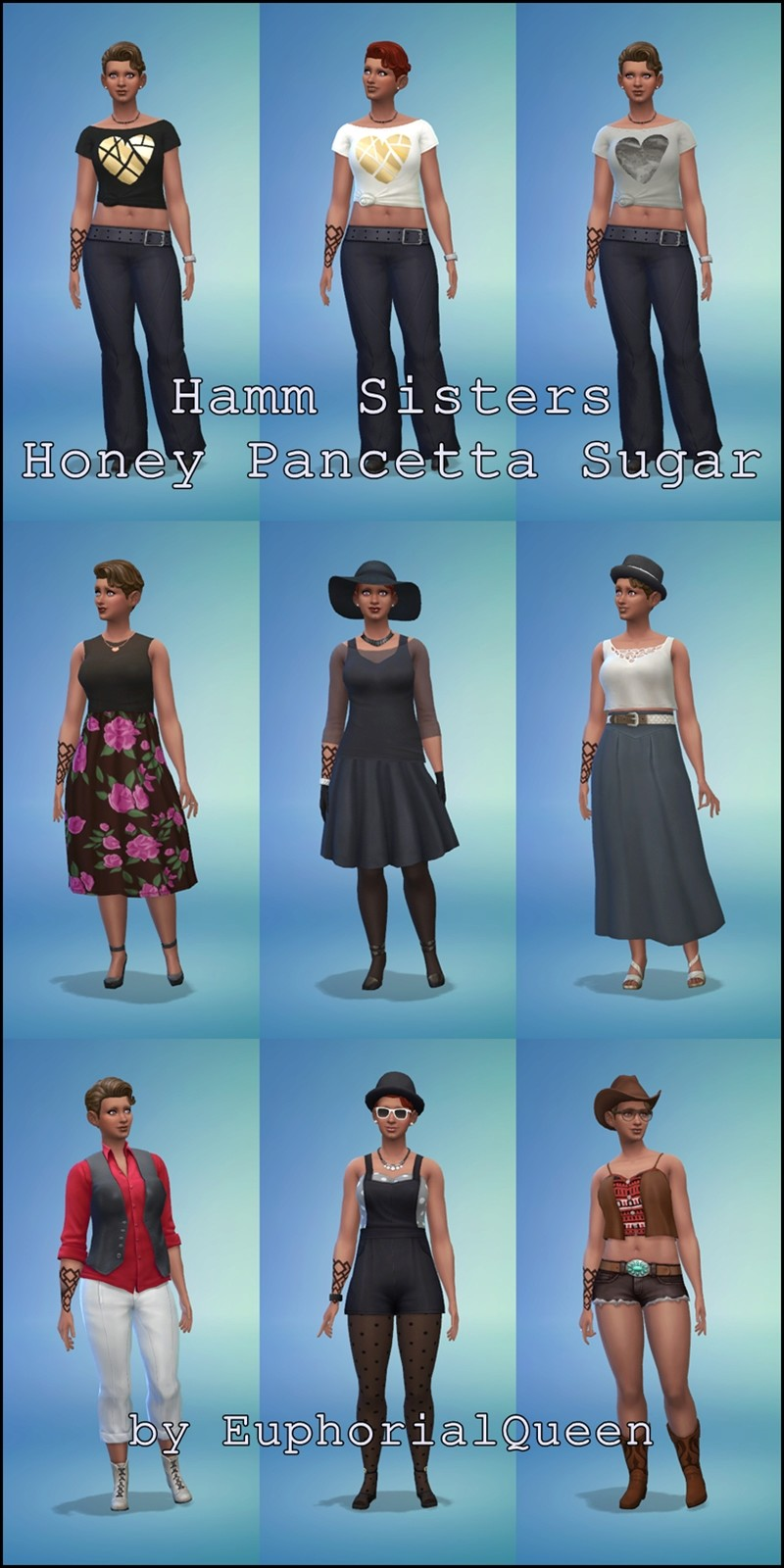 **The Sims 4 Three Little Sims Challenge** Revised as 3 Little Sims for Sims 4 Hamm_s10