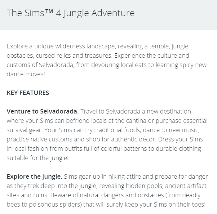 The Sims™ 4 Jungle Adventure GP *New Video & Blog Link Added* Jungle12