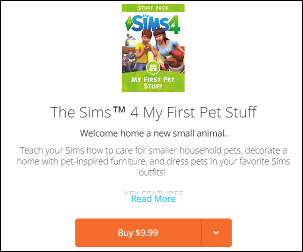 Stuff Pack That //Requires// Compliments Cats & Dogs - Available Now on Origin Pack10