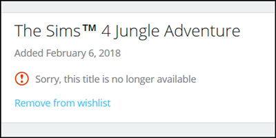 The Sims™ 4 Jungle Adventure GP *New Video & Blog Link Added* Wish10