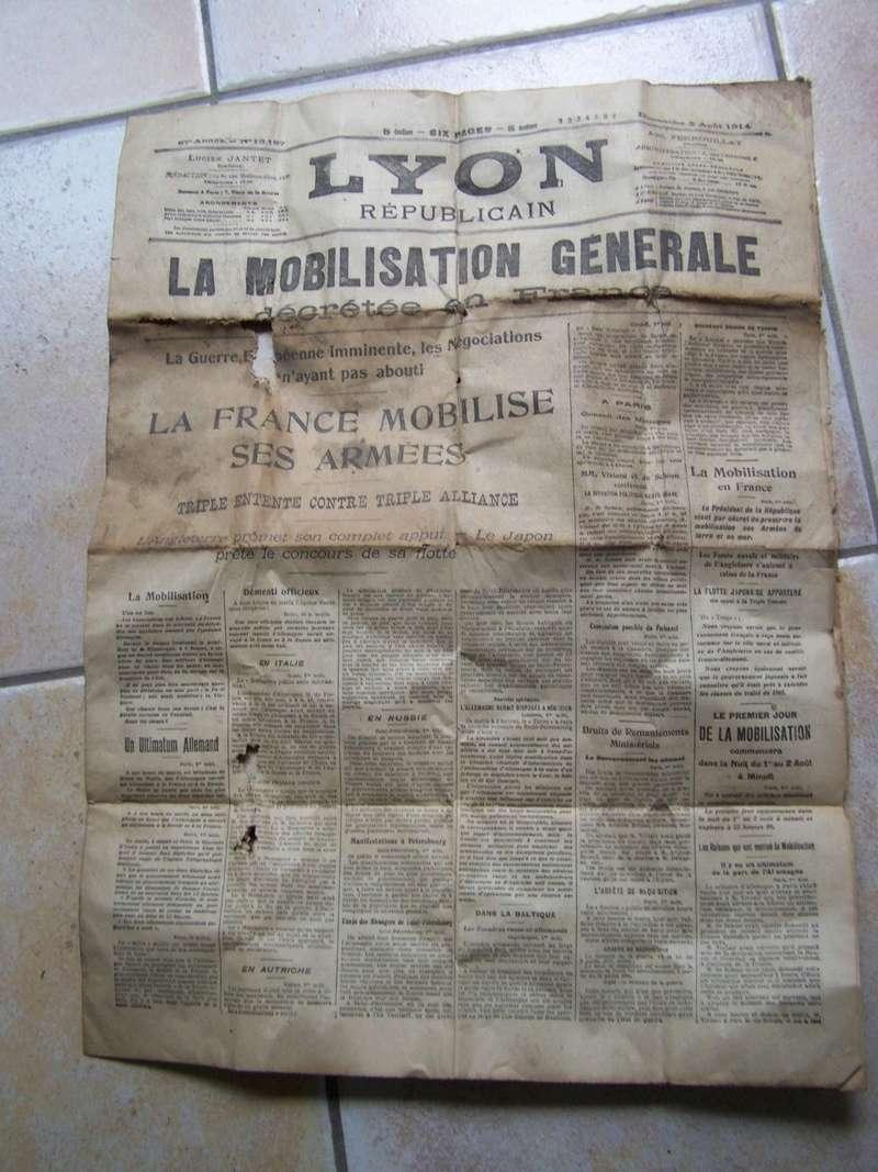 baïonnette à douille et journal du 2 août 1914 00815