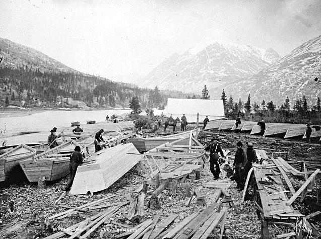 Rué vers l'or, la barque des Yukonners ! Lac_be10