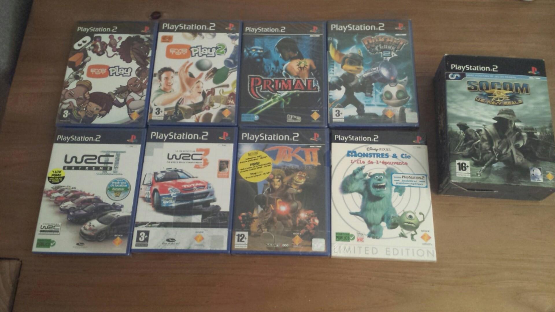 Vente - nombreux jeux PS2 format promo & jeux neufs sous blister 20180522