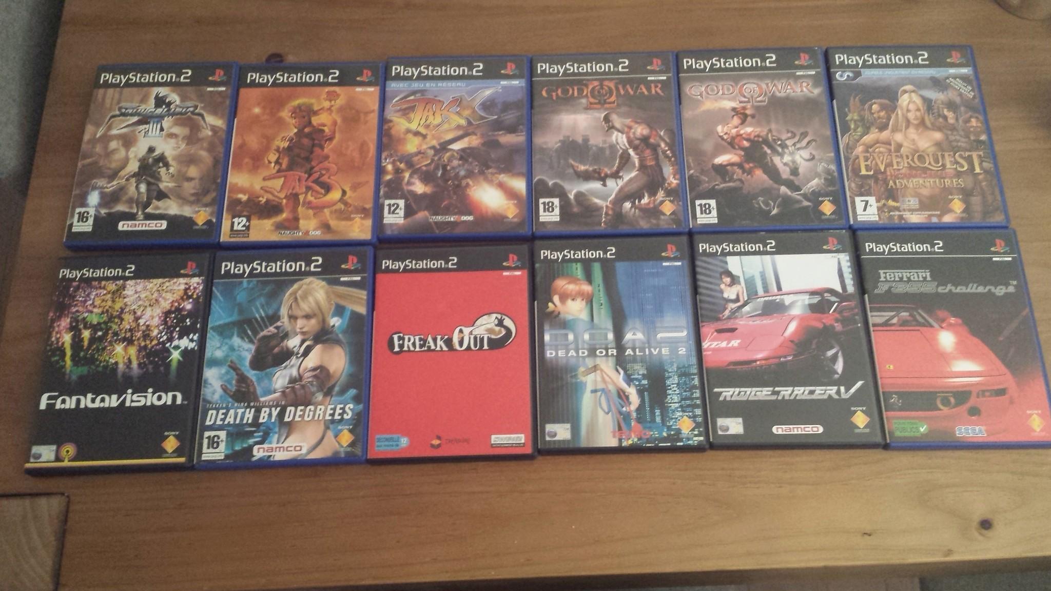 Vente - nombreux jeux PS2 format promo & jeux neufs sous blister 20180525
