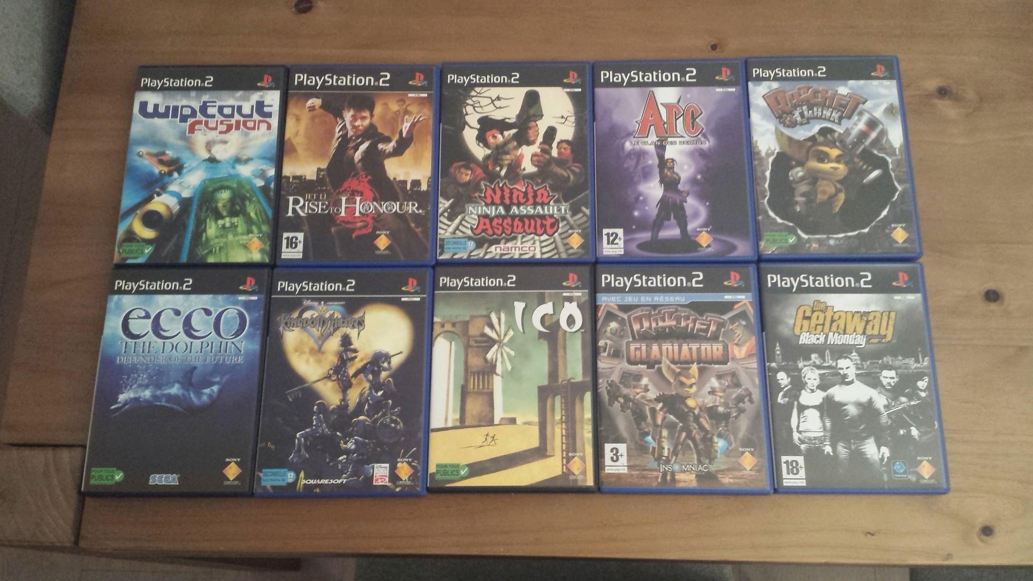 Vente - nombreux jeux PS2 format promo & jeux neufs sous blister 20180526