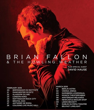 Brian Fallon & The Howling Weather EUROPE tour 2018 Bf14