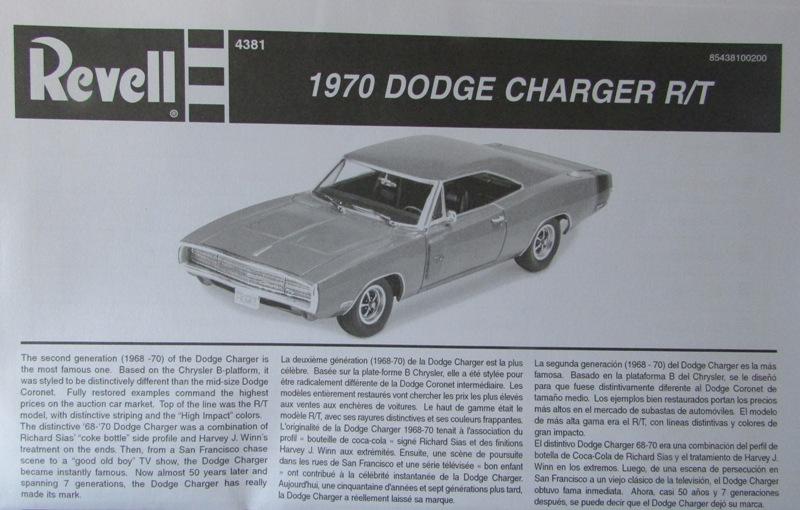 Un nouvel achat, j'ai été sage à Québec! Revell 1970 Dodge charger R/T  02411