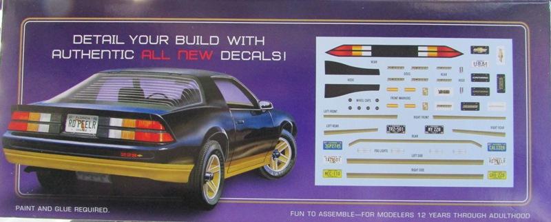 AMT 1983 Camaro Z28 avec un match comparatif!  02712