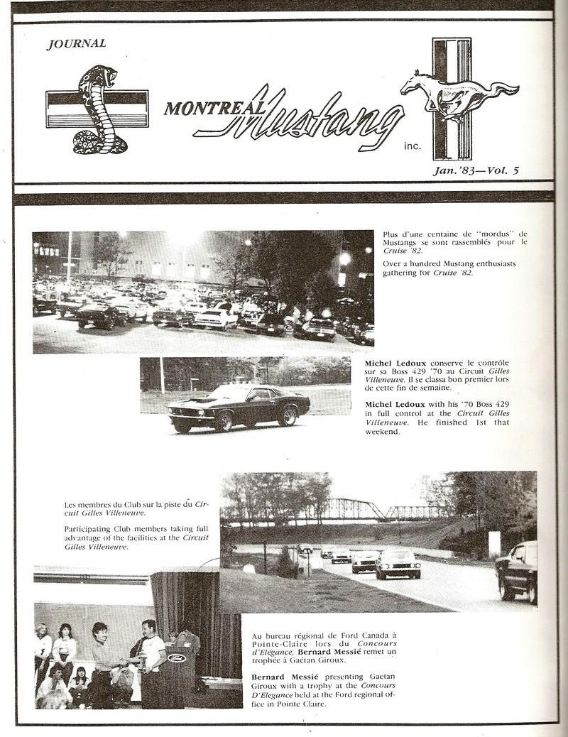 Montréal Mustang dans le temps! 1981 à aujourd'hui (Histoire en photos) 1983-010
