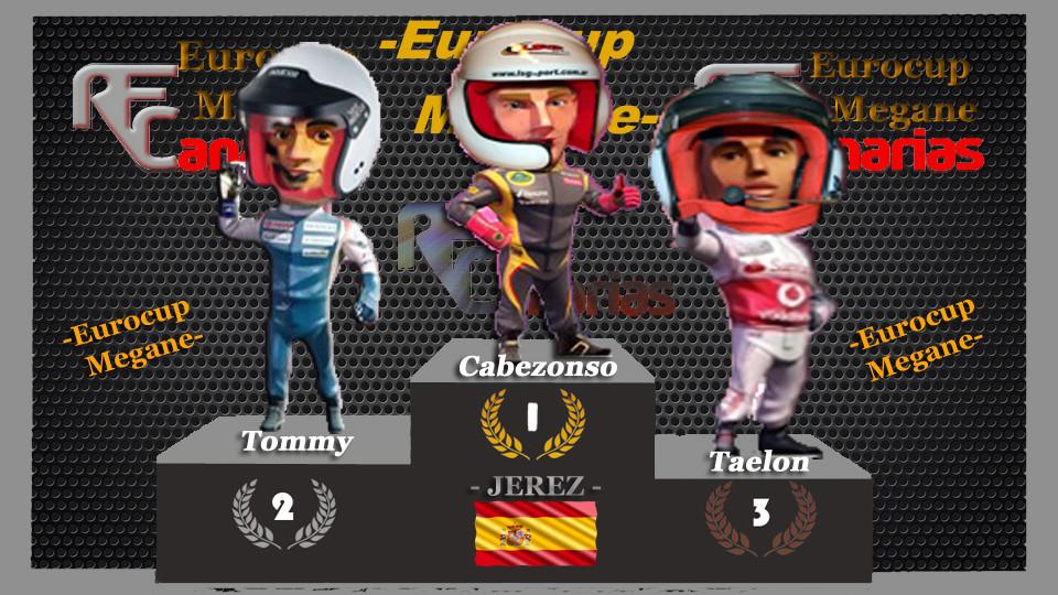 Tercera carrera Eurocup Megan Trophy Podium12