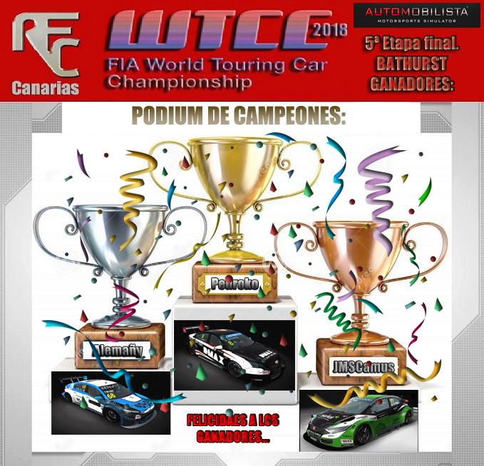 WTCC 2018- QUINTA ETAPA FINAL Podium35