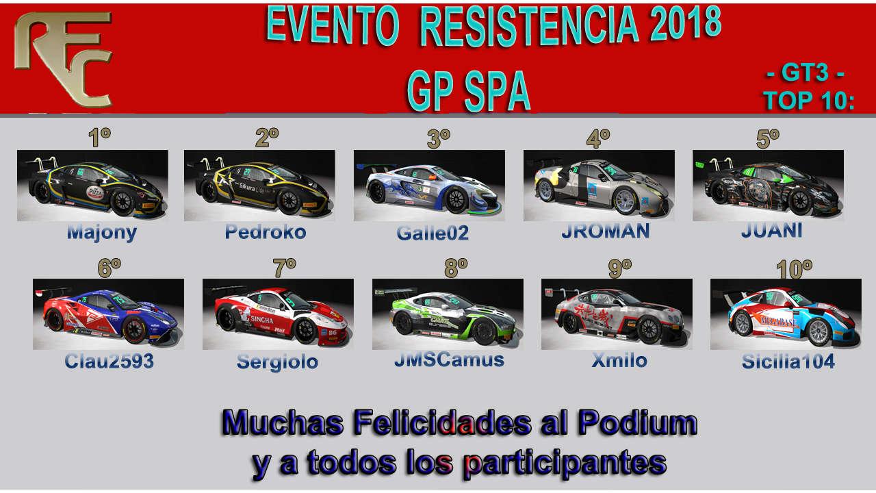 EVENTO ESPECIAL DE RESISTENCIA  Podium36